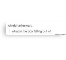 "FOB ""what is the boy falling out of"" Metal Print"