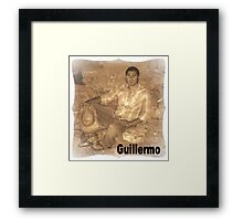 GUILLERMO SITTING FOR PORTRAIT Framed Print