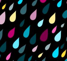Rainy day pattern in black  Sticker