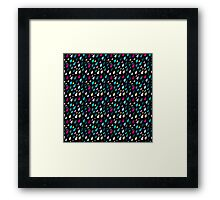 Rainy day pattern in black  Framed Print