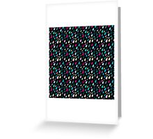 Rainy day pattern in black  Greeting Card