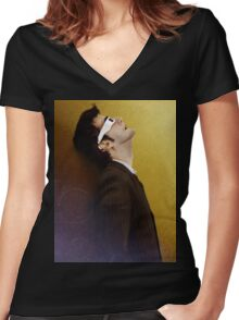 10th Doctor Who Women's Fitted V-Neck T-Shirt