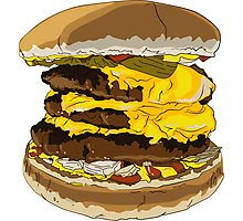 Triple Cheeseburger - Powerhouse of the Four Food Groups! Photographic Print