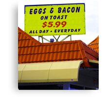 all day breakfast Canvas Print