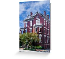 Historic Savannah Mansion Greeting Card