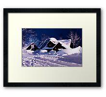Izumikyo Shack, Niseko Framed Print