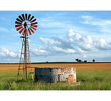 Wind Pump Photographic Print