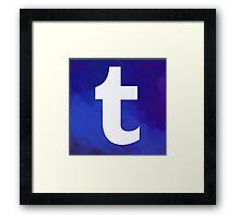 Textured Tumblr Logo Framed Print