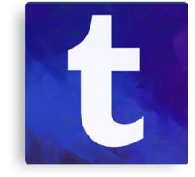 Textured Tumblr Logo Canvas Print