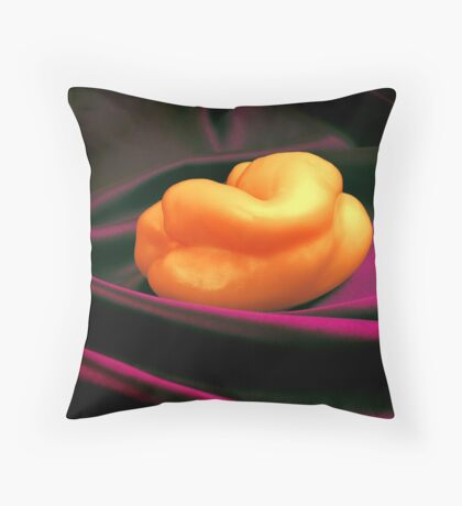 Nude Capsicum Throw Pillow