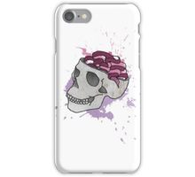 Halftone Skull ilustration iPhone Case/Skin