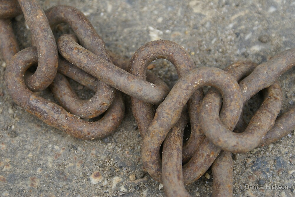 Rusty Old Chain by Danita Hickson