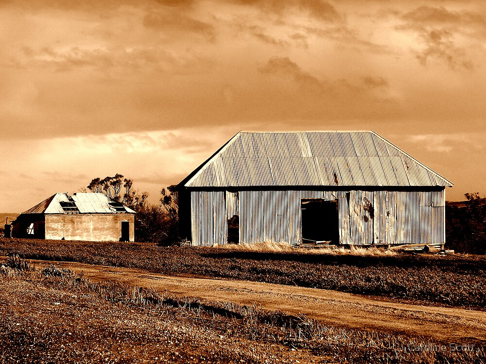 The Barn and House by Caroline Scott