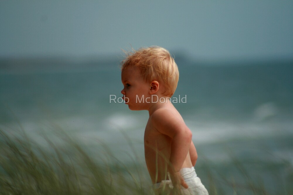 at the beach by Rob  McDonald