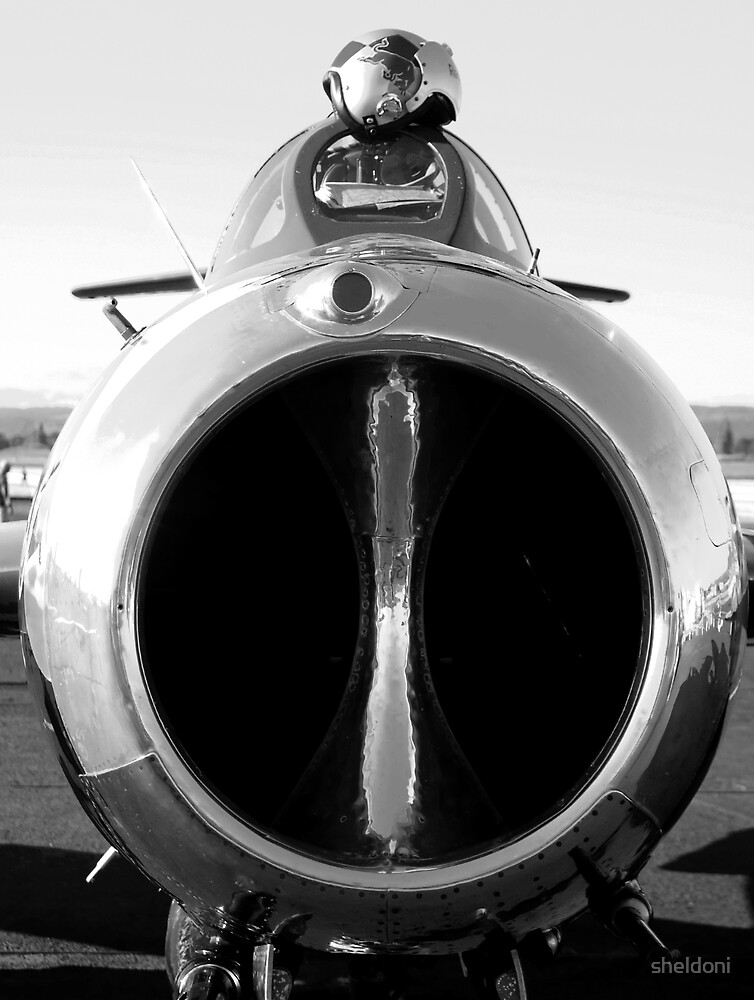 """MiG-16"" by sheldoni"
