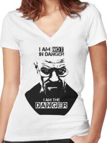 Breaking Bad - Heisenberg - I am the danger! T-shirt Women's Fitted V-Neck T-Shirt