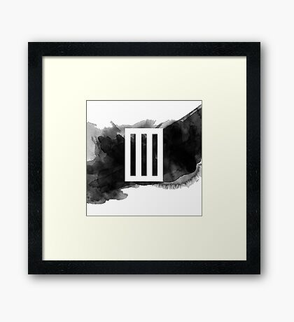 Paramore Bars // Watercolour Framed Print