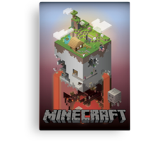 Minecraft - world of blocks Canvas Print