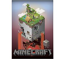 Minecraft - world of blocks Photographic Print