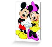 Michey Mouse and Minnie Mouse Greeting Card