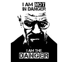 Breaking Bad - Heisenberg - I am the danger! T-shirt Photographic Print