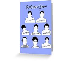 Youtube Crew Greeting Card