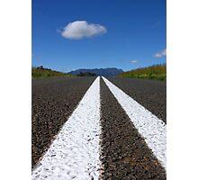 Double White Lines Photographic Print