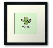 """Poke Me"" Cactus  Framed Print"