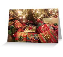 CHRISTMAS EVE - UNDER THE TREE ^ Greeting Card