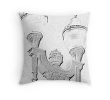 Charcoal Lamp Throw Pillow