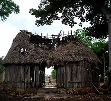 Broken Mayan Hut, Ek-balam, Mexico by Cryingbull