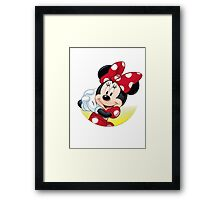 Lovely Minnie Mouse Framed Print
