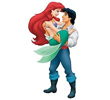 Little Mermaid and Prince Photographic Print