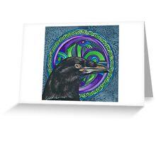 Celtic Raven Greeting Card