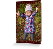 Autumn Leaves and Mucky Puddles! Greeting Card