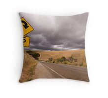 Going Round the Bend Throw Pillow