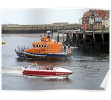 Whitby Lifeboat & Speed Boat Poster