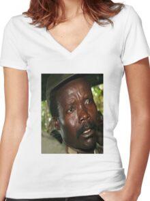 Kony Women's Fitted V-Neck T-Shirt