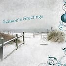 "Snowy Beach Path ""Season's Greetings"" ~ Greeting Card by Susan Werby"