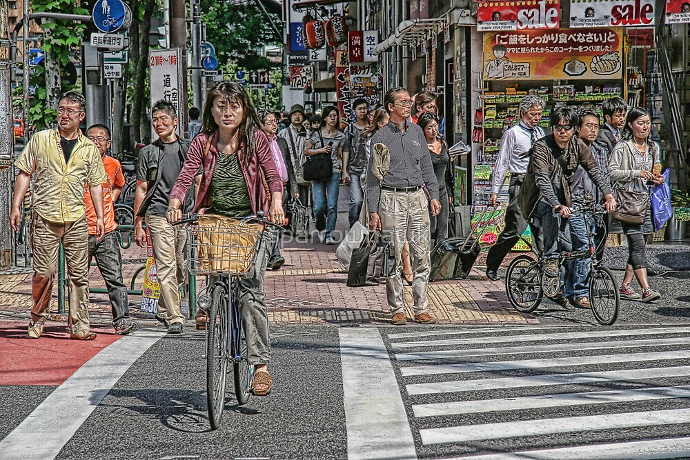 Tokyo  - Street scene by day by sparrowhawk
