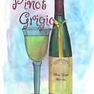 Watercolor Wine by Debbie DeWitt