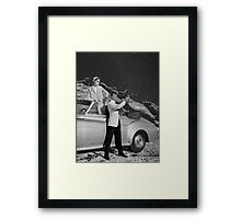 THEY WERE THERE FIRST (BW) Framed Print