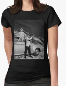 THEY WERE THERE FIRST (BW) Womens Fitted T-Shirt
