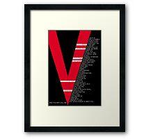 V for Vendetta Speech Framed Print