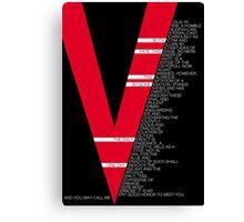 V for Vendetta Speech Canvas Print