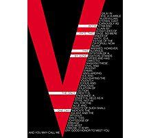 V for Vendetta Speech Photographic Print