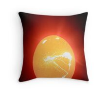 egg tear Throw Pillow