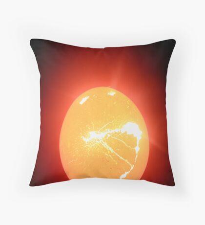 egg tear Throw Pillow