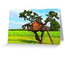 Beautiful creative tree house Greeting Card
