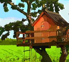 Beautiful creative tree house Sticker